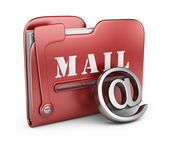 Folder is similar to mail box. Email concept. 3D icon isolated — Stock Photo