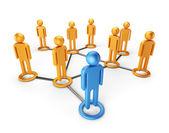 Soziales netzwerk-gemeinschaft. globale kommunikation konzept 3d, isola — Stockfoto
