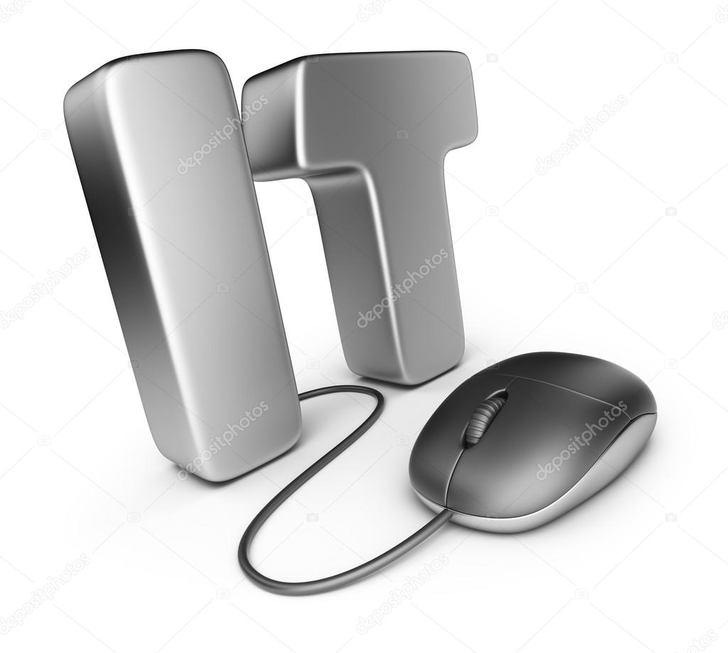 Information technology icon それを持つマウスを手紙します