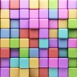 Royalty-Free Stock Photo: Abstract background of multi-colored cubes. 3D Illustration