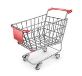 Market shopping cart 3D. Isolated on white background — Stock Photo