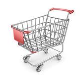 Market shopping cart 3D. Isolated on white background — Stock Photo