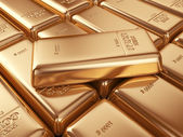 Gold bars. Concept of banking. 3D Illustration — Stock Photo