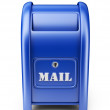 Mail box. 3D Icon isolated on white background — Stock Photo