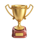 Gold cup winner trophy. 3D Icon isolated on white background — Stock Photo