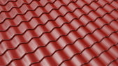 Brown pattern of roof tile 3D. Architecture detail — Stock Photo