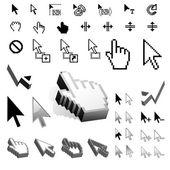 Maior conjunto de ícones do cursor de vetor — Vetorial Stock