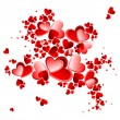 Valentine heart petals blooming - Stock Vector