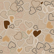 Decorative ornament - valentine heart wrapping paper - vector il — ストックベクタ