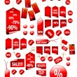 Stock Vector: Big set of vector price tags - you cuse it for any sale time