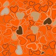Decorative ornament - valentine heart wrapping paper - vector il — Stok Vektör