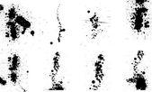 Set of vector ink drops / paint splash — Stock Vector