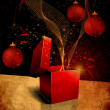 Christmas Grunge Backgrounds and Textures - Stock Photo