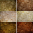 Set of 6 painted grunge texture - Stockfoto