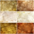 Set of 6 painted grunge texture - Stock Photo