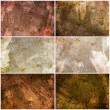 Set of 6 painted grunge texture — Stock Photo