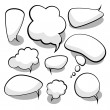 Speech And Thought Bubbles - Imagen vectorial