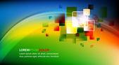 Diseño de la tarjeta vector moderno colorido — Vector de stock