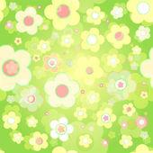 Seamless tile-able flower background — Stock Vector