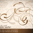 Elegant Wavy Design - Abstract Vector Card - Stock Vector