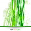 Abstract Nature Vector Background - Transparent Lights and Wavy Foliage Decorations — Stock Vector #23506647