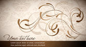 Elegant Wavy Design - Abstract Vector Card — Stock Vector