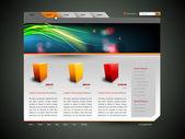 Moderna web site design vektor mall med banner design — Stockvektor