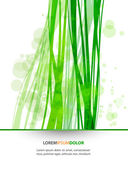 Abstract Nature Vector Background - Transparent Lights and Wavy Foliage Decorations — Stock Vector