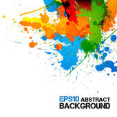 Colorful Paint - Ink Splashes - Drops - Vector Grunge Background — Stockvektor
