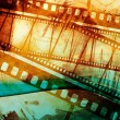 Vintage grunge texture with films strip — Foto Stock