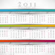 2011 Business Wall Calendar — Stock Vector