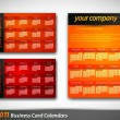 Colorful 2011 Calendar Templates in Card formats  — Stock Vector