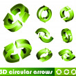 3D Icons: Circular Arrows — Stock Vector
