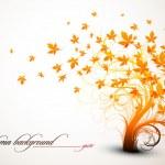 秋の木 - きれいなベクトル組成 — ストックベクタ