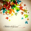 Autumn Background - Falling Leaves — Stock Vector