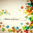 Autumn Background - Falling Leaves — Stock Vector #31314147