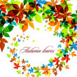 Autumn Background - Falling Leaves — Stock Vector #31314149