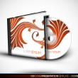 CD Cover Design with 3D Presentation Template — Stock Vector