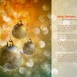 Christmas Background with Shiny Globes and Sparkling Lights — Stock Vector