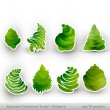 Abstract Christmas Trees — Stock Vector