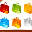 Colorful Shopping Bags - 3d Icons — Stock Vector