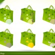 Eco-Friendly Shopping Bags — Stockvectorbeeld