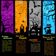 Stock Vector: Halloween Banners Vertical