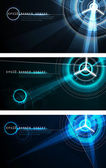 Futuristic Banner Set — Stock Vector