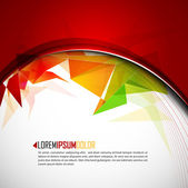 Intensive Colors - Abstract Vector Background — Stock Vector