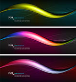 Intensive Colors - Wavy Banner Illustration — Stock Vector