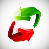 Flèches circulaires colorés — Vecteur