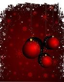 Kar taneleri dekorasyonu ile Noel arka plan — Stok Vektör