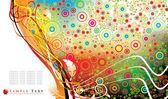 Colorful floral design — Cтоковый вектор