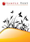 ретро цветочные гранж-фон — Cтоковый вектор